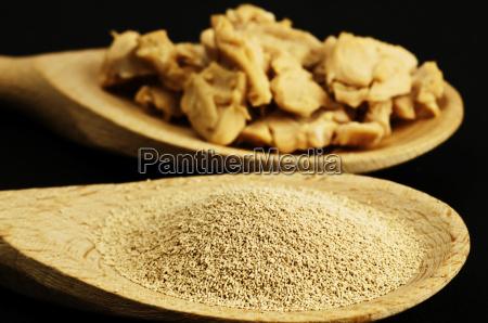 ingrediente de hornear levadura seca y