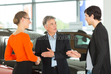 elderly man with car and a