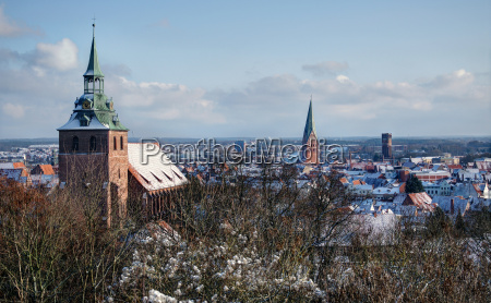 wintry lueneburg