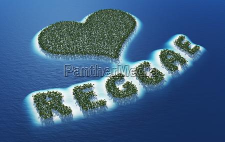 reggae love island concept