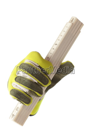 meter stick and glove