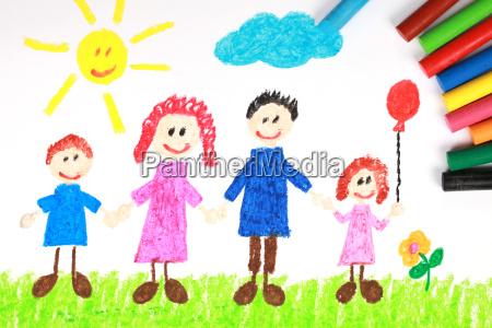 hijos de una familia en un