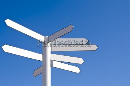 direccion en blanco senyal