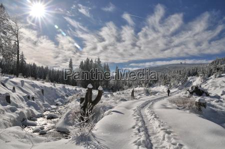 invierno caminata resina pedazo nieve