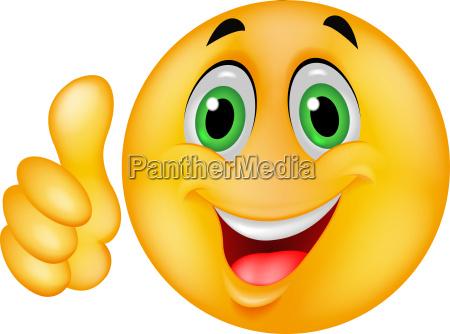 de dibujos animados emoticon sonriente con