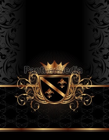 marco adornado de oro con la