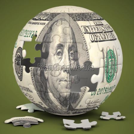 dollar globe