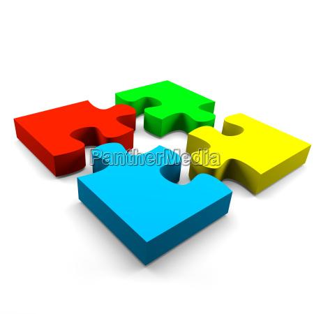 concepto de la cooperacion del rompecabezas