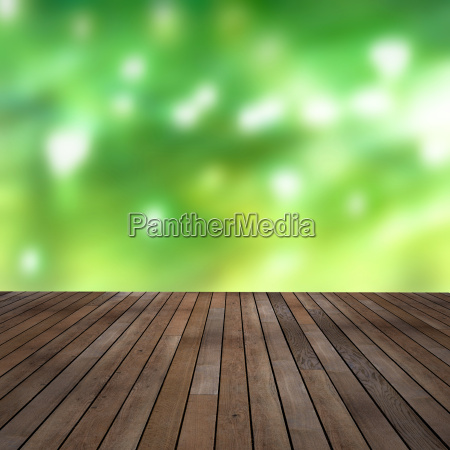 decking with blurred background