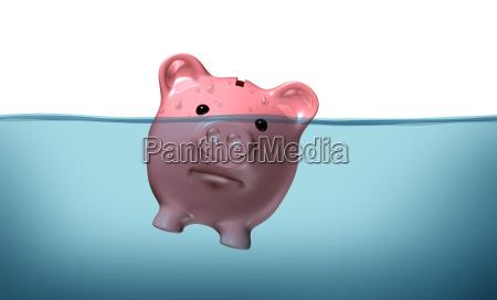 ahogamiento en deuda