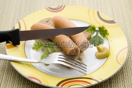 pan mostaza bockwurst salchicha