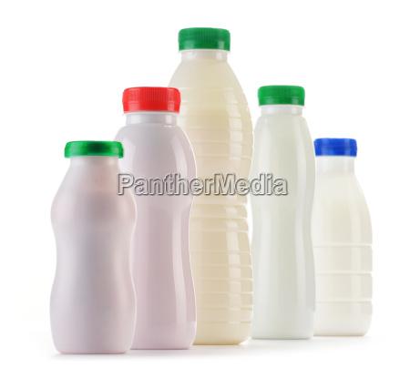 comida objeto liberado leche aislado botella