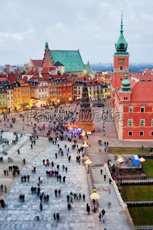 ciudad plaza polonia varsovia palacio stadtkern