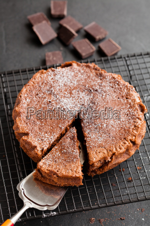 chocolate cake and squares