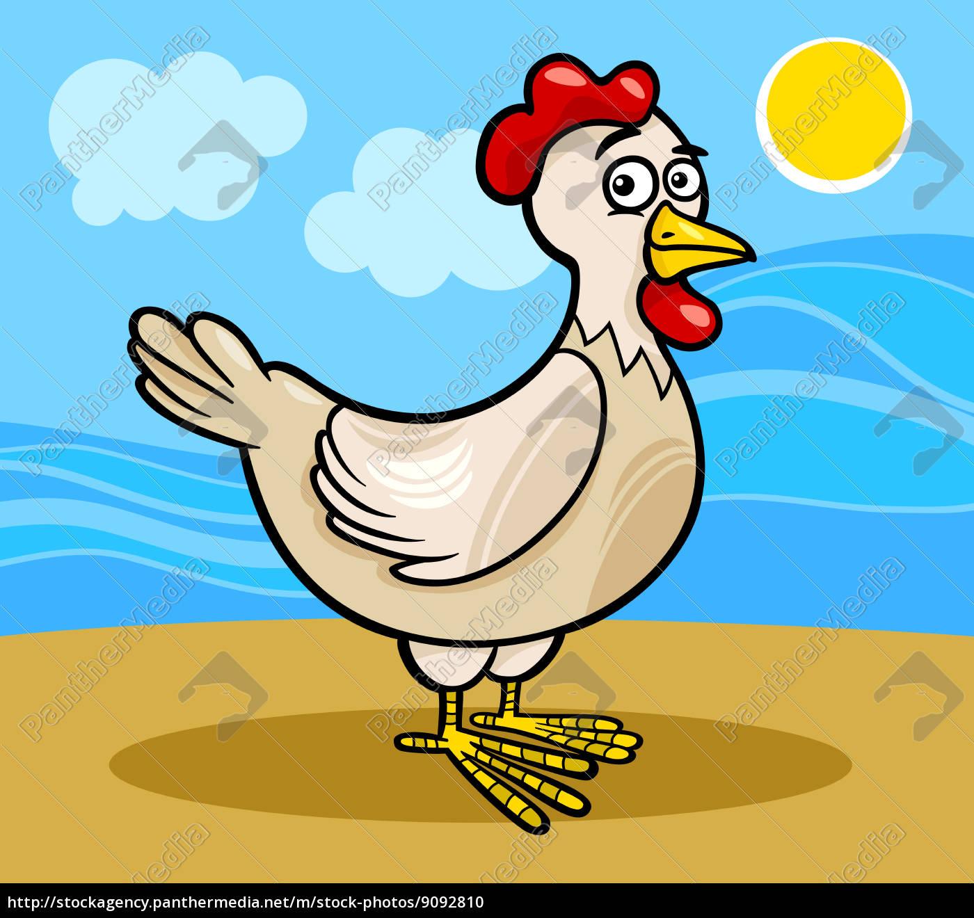 Stockphoto 9092810 Gallina Granja Ilustración De Dibujos Animados De Animales