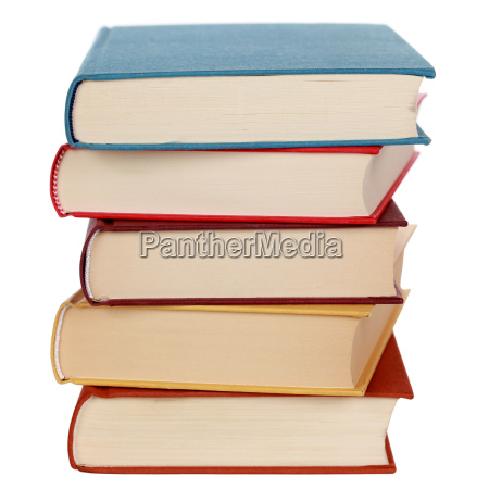 pile with colorful books