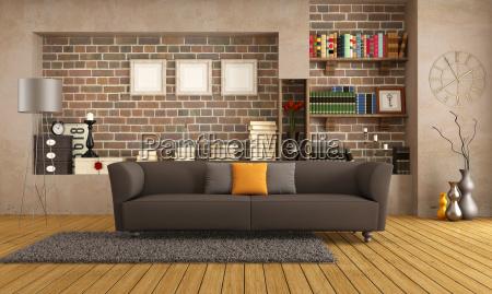 sofa moderno en un salon de