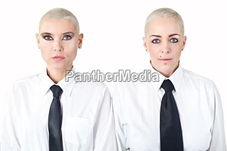 mujeres hermosas con pelo vistiendo ropa