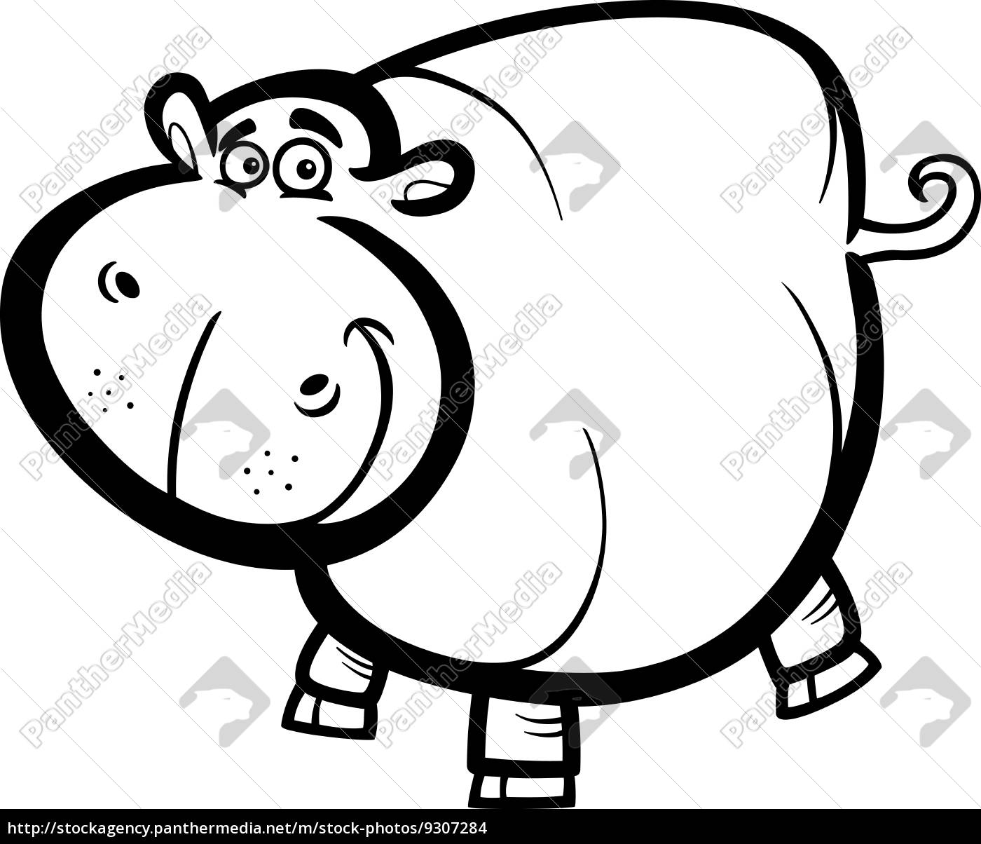 Stockphoto 9307284 Hipopótamo O Hippopotamus Para Colorear