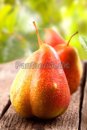 verde verano veraniego maduro fruta pera