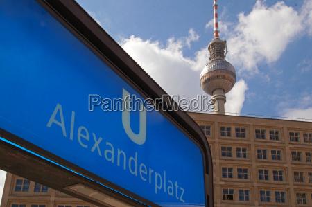 senyal metro berlin alemania la torre