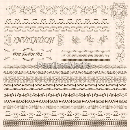 decorativo invitacion con estilo ornamental frontera