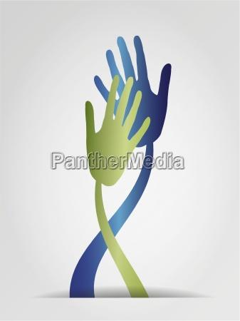 mano manos grafico ilustracion contacto tocar