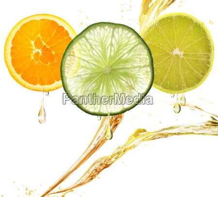 de naranja de limon y de