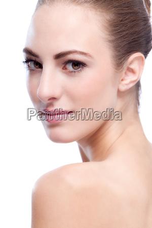 hermosa mujer joven con retrato de