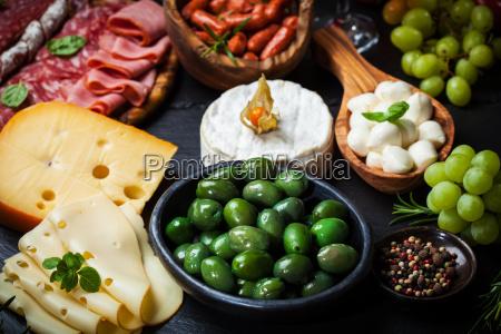 bandeja de antipasto y catering