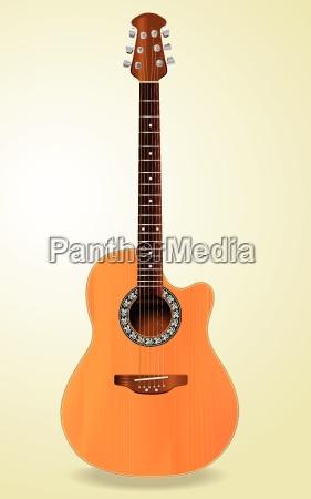 guitarra acustica realista