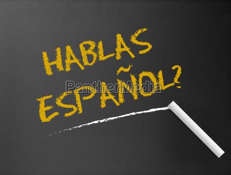 pizarra hablas espanyol