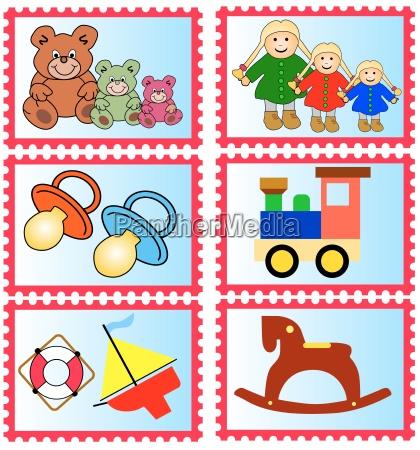 marcas con juguetes infantiles graficos