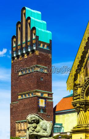 mathildenhehe en darmstadt torre de bodas