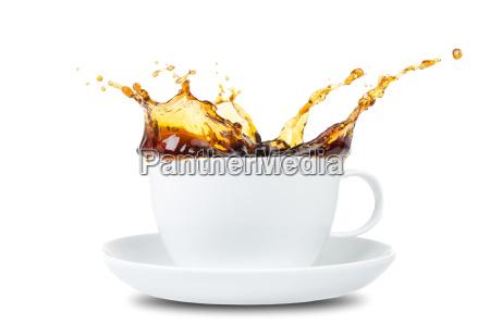 salpicadura de cafe antes de las