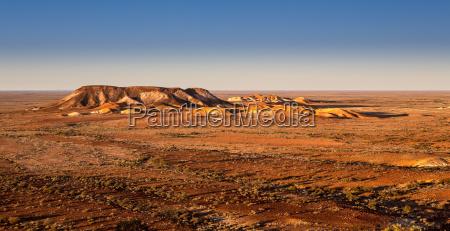 desierto australia plano solitario piedras