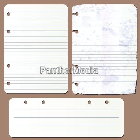 paginas vector de bloc de notas