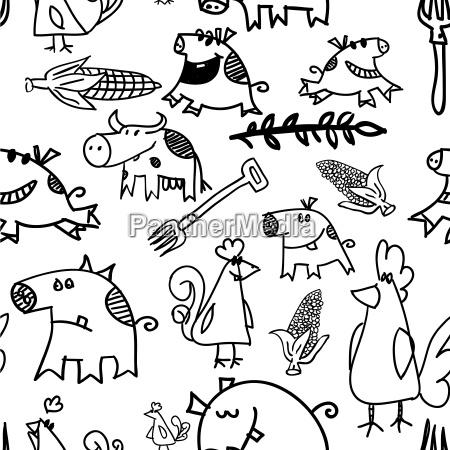 animal los animales negro ornamento ilustracion
