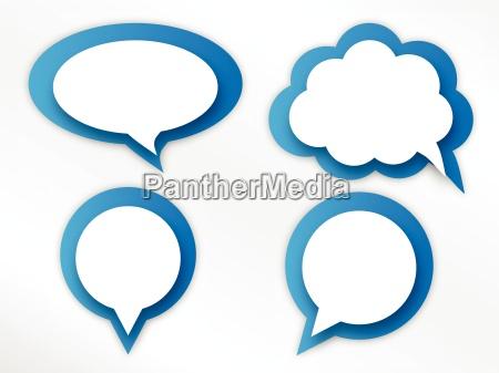 hablar hablando habla charla nube globo