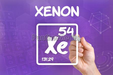 simbolo para el elemento quimico xenon