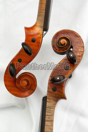 two violins detail