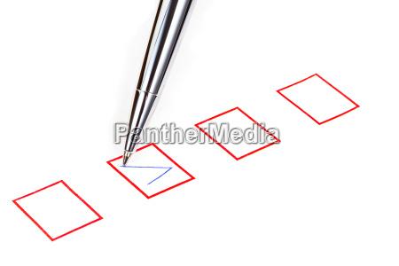 marque en la caja cuadrada de