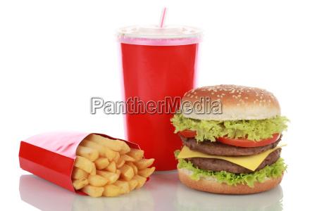 combo de hamburguesa doble con frances
