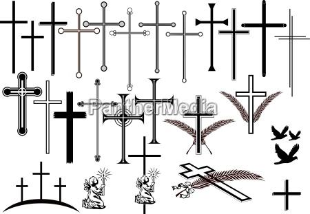 cruces y otros simbolos de luto