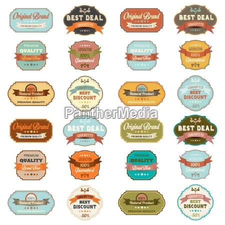 conjunto de etiquetas retro vendimia