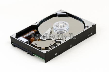 disco duro abierto