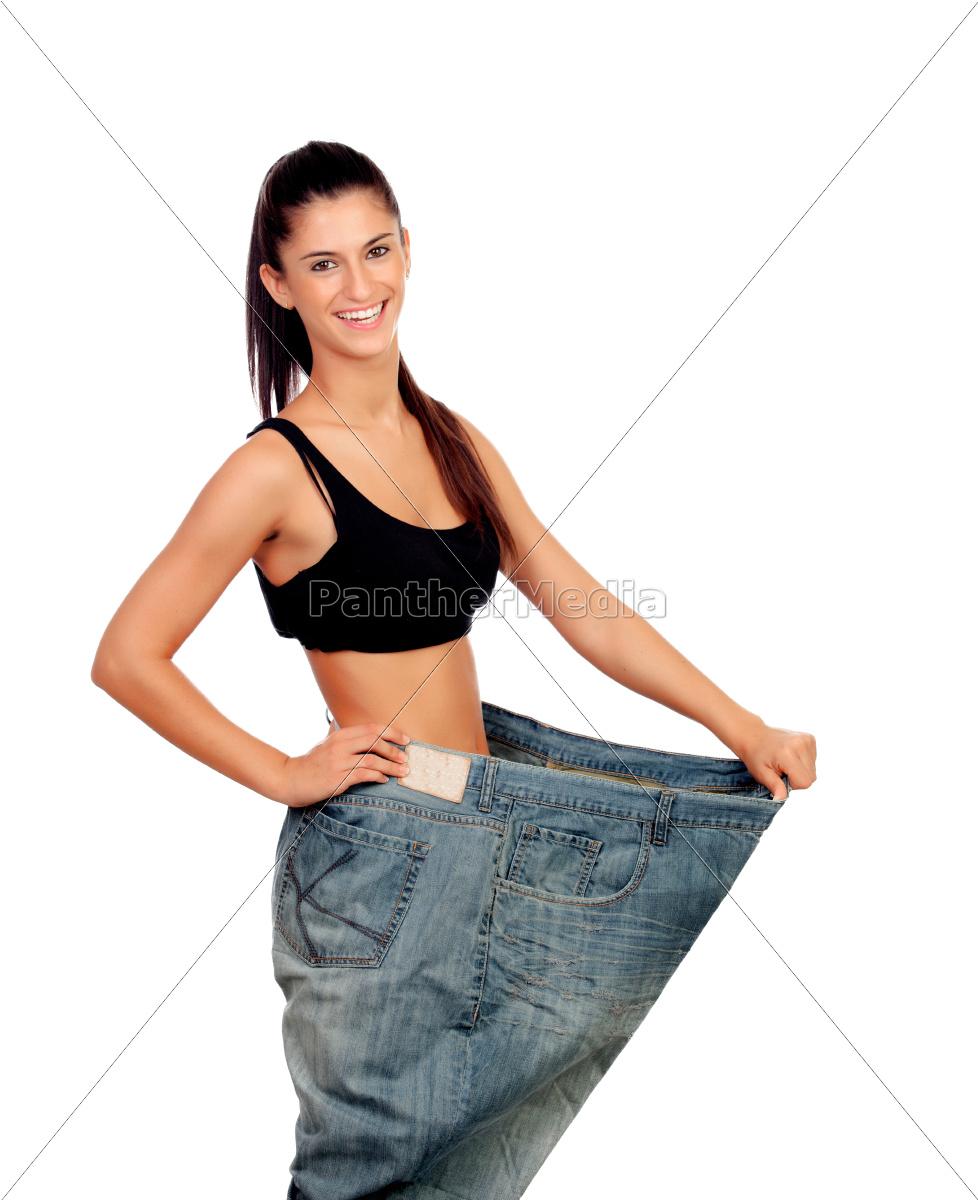 objetivo, conseguido., mujer, en, su, peso - 10041948