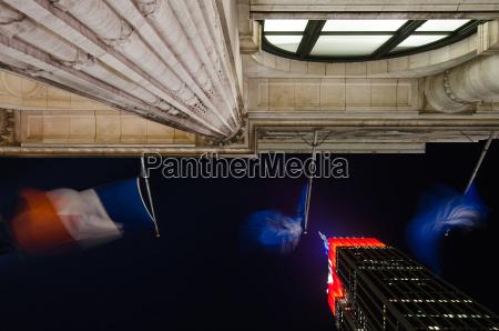 noche eeuu bandera banderas nueva york
