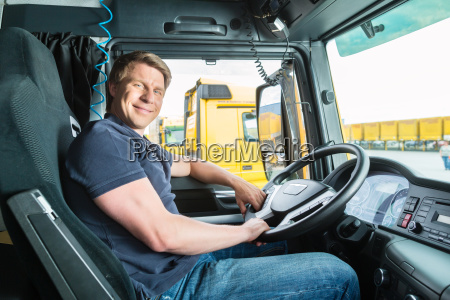 forwarder or driver in trucks or