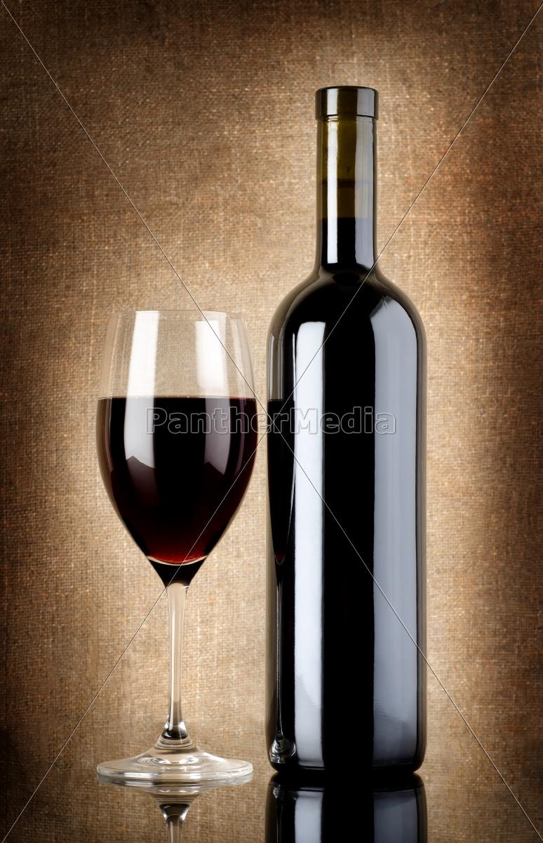 botella, de, vino, y, copa, de - 10123533